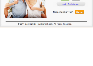 HealthEFirst   Customer Login